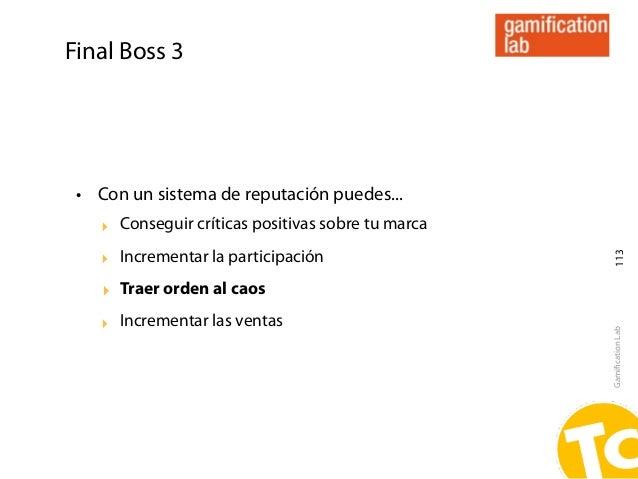 Final Boss 3 • Con un sistema de reputación puedes...    ‣ Conseguir críticas positivas sobre tu marca    ‣ Incrementar la...