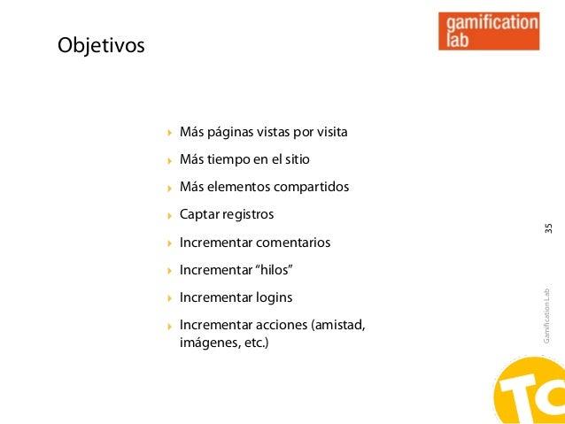 Objetivos            ‣ Más páginas vistas por visita            ‣ Más tiempo en el sitio            ‣ Más elementos compar...