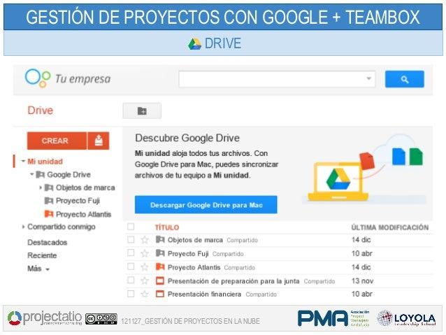 GESTIÓN DE PROYECTOS CON GOOGLE + TEAMBOX                               DRIVE         121127_GESTIÓN DE PROYECTOS EN LA NUBE