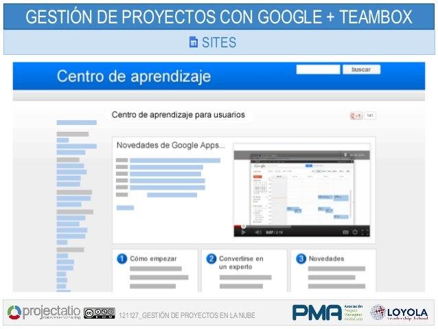 GESTIÓN DE PROYECTOS CON GOOGLE + TEAMBOX                                SITES         121127_GESTIÓN DE PROYECTOS EN LA N...