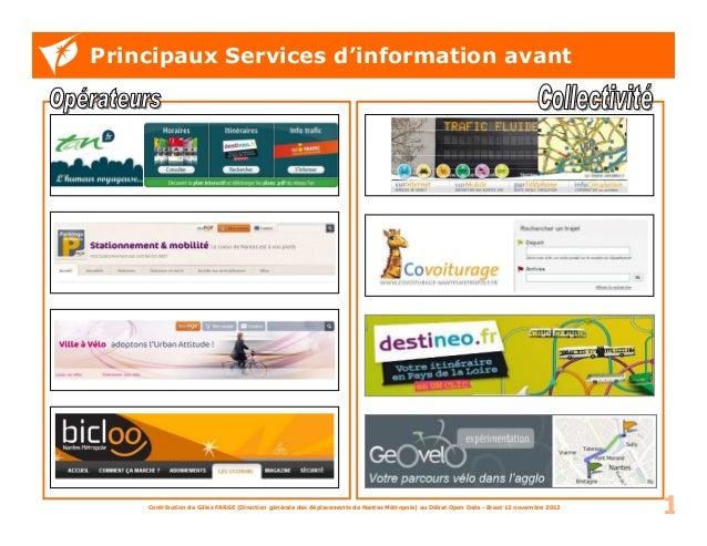 Principaux Services d'information avant    Contribution de Gilles FARGE (Direction générale des déplacements de Nantes Mét...