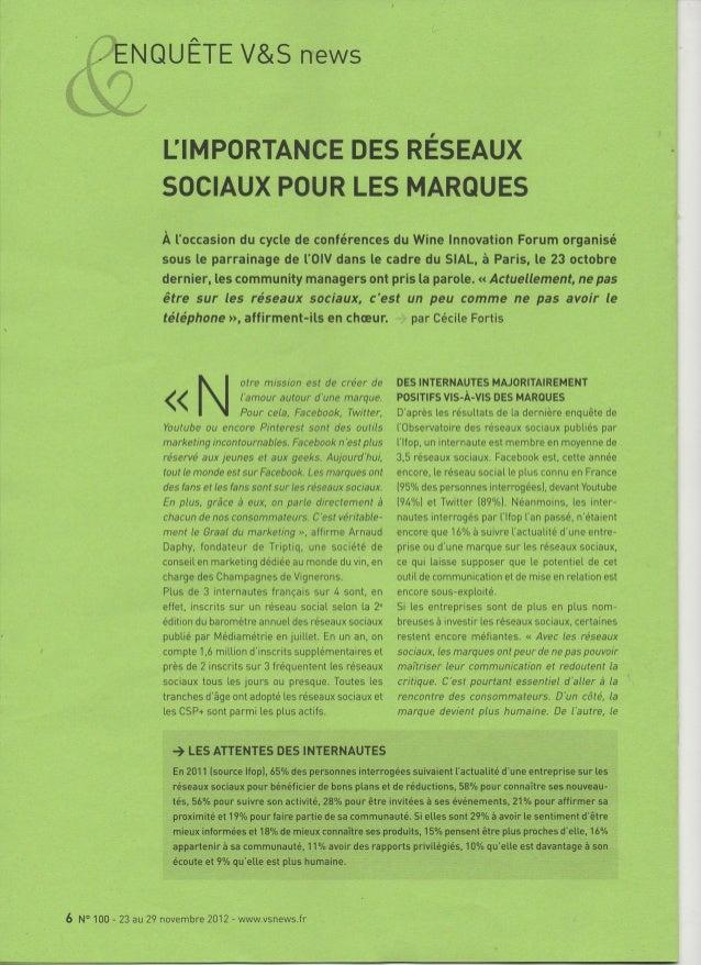 L'importance des réseaux sociaux pour le vin - Luc Chanut