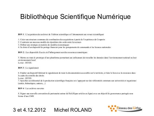 Bibliothèque Scientifique Numérique BSN 1 : L'acquisition des archives de l'édition scientifique et l'abonnement aux revue...