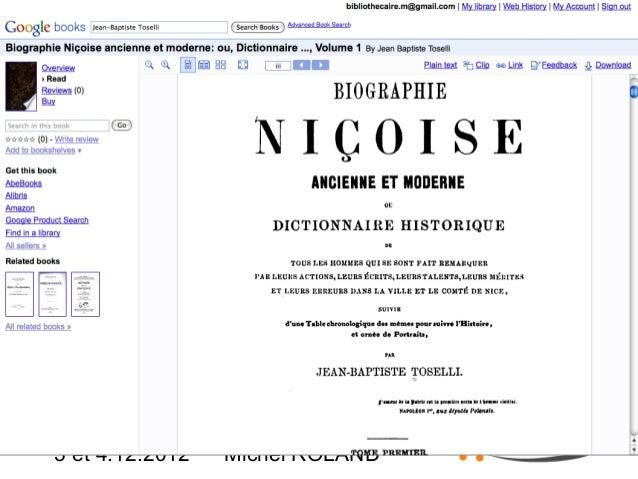 Google Books  3 et 4.12.2012  Michel ROLAND