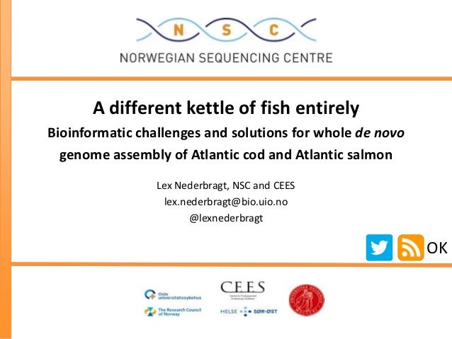 A different kettle of fish entirelyBioinformatic challenges and solutions for whole de novo  genome assembly of Atlantic c...