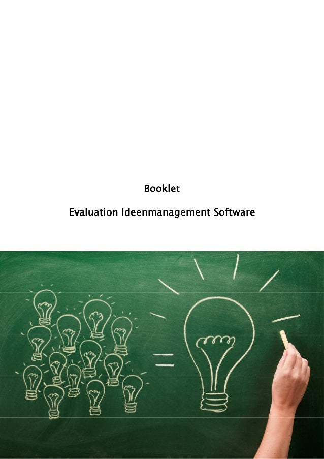 Booklet                           SoftEvaluation Ideenmanagement Software
