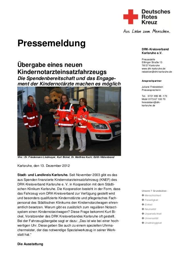 Pressemeldung                                                                        DRK-Kreisverband                     ...