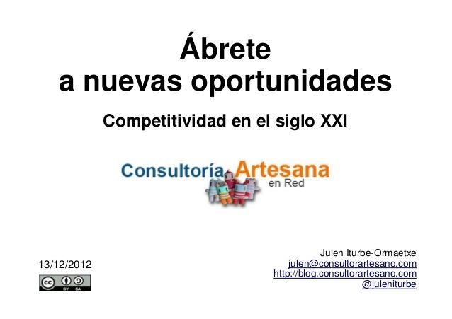Ábrete   a nuevas oportunidades             Competitividad en el siglo XXI                                             Jul...