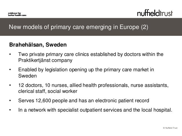 Primary care in Europe: can we make it fit for the future?