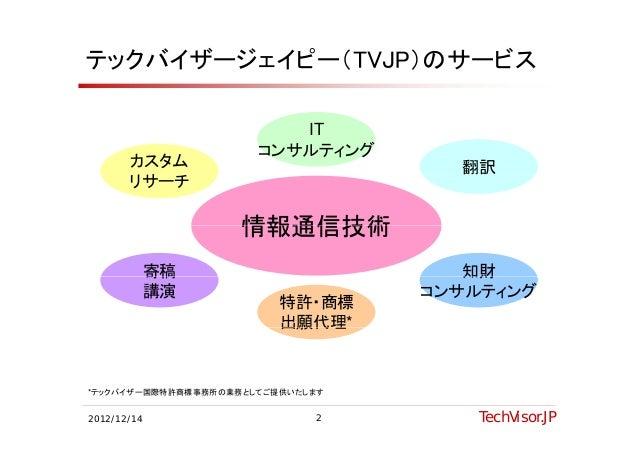 テックバイザージェイピー(TVJP)のサービス                         IT                      コンサルティング       カスタム                         翻訳    ...
