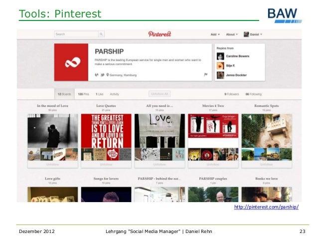 Tools: Pinterest                                                                   http://pinterest.com/parship/Dezember 2...