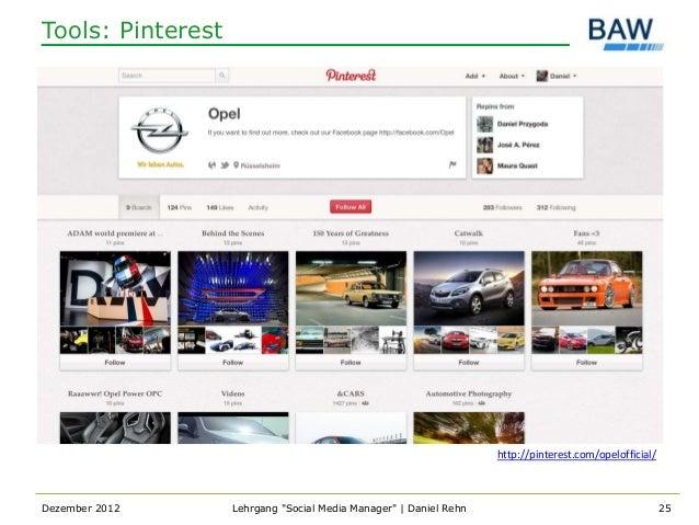 Tools: Pinterest                                                                   http://pinterest.com/opelofficial/Dezem...