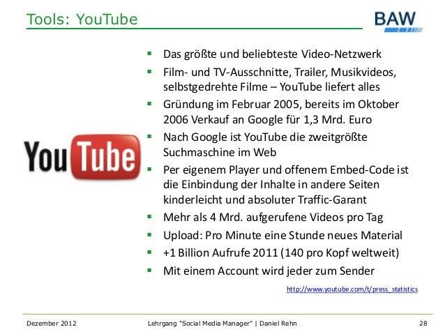 Tools: YouTube                  Das größte und beliebteste Video-Netzwerk                  Film- und TV-Ausschnitte, Tra...