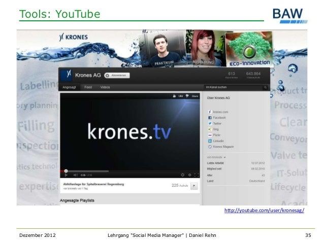 Tools: YouTube                                                                 http://youtube.com/user/kronesag/Dezember 2...