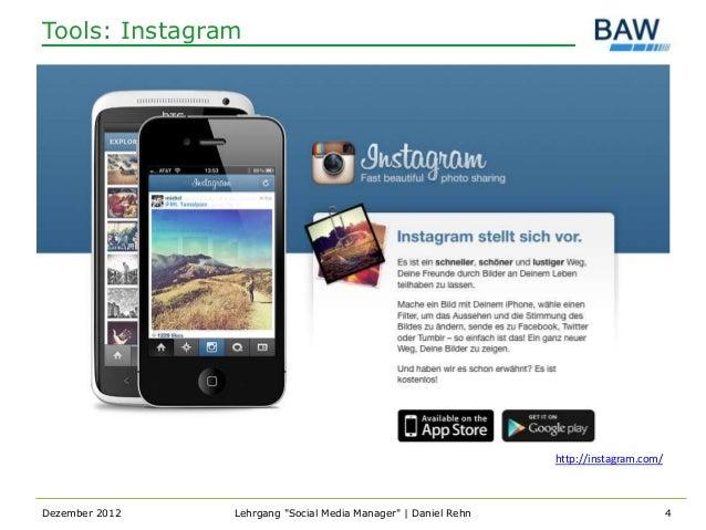 Tools: Instagram                                                                http://instagram.com/Dezember 2012   Lehrg...