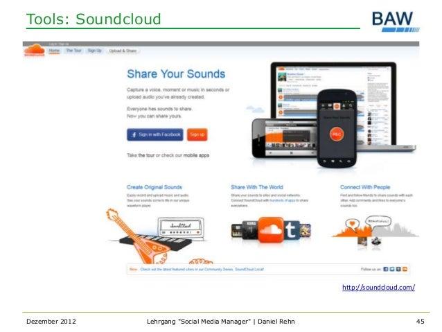 Tools: Soundcloud                                                                http://soundcloud.com/Dezember 2012   Leh...
