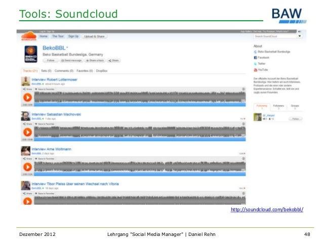 Tools: Soundcloud                                                                http://soundcloud.com/bekobbl/Dezember 20...