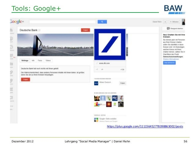 Tools: Google+                                             https://plus.google.com/111156452778398863002/postsDezember 201...