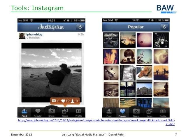 Tools: Instagram    http://www.iphoneblog.de/2011/01/12/instagram-fotospas-zwischen-den-zwei-foto-profi-werkzeugen-flickst...
