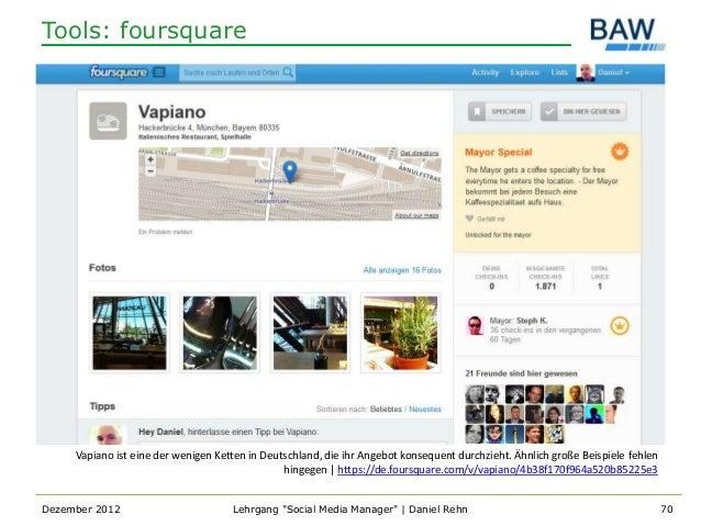 Tools: foursquare     Vapiano ist eine der wenigen Ketten in Deutschland, die ihr Angebot konsequent durchzieht. Ähnlich g...