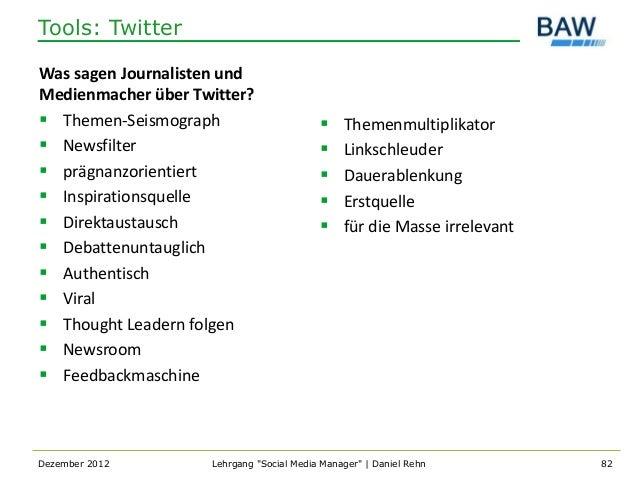 Tools: TwitterWas sagen Journalisten undMedienmacher über Twitter? Themen-Seismograph                          Themenmul...