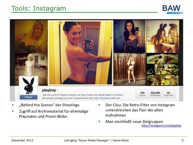 """Tools: Instagram   """"Behind the Scenes"""" der Shootings                    Der Clou: Die Retro-Filter von Instagram   Zugr..."""