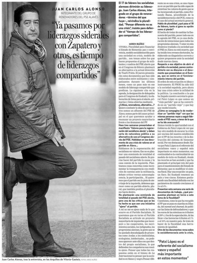 entrevista Juan Carlos Alonso
