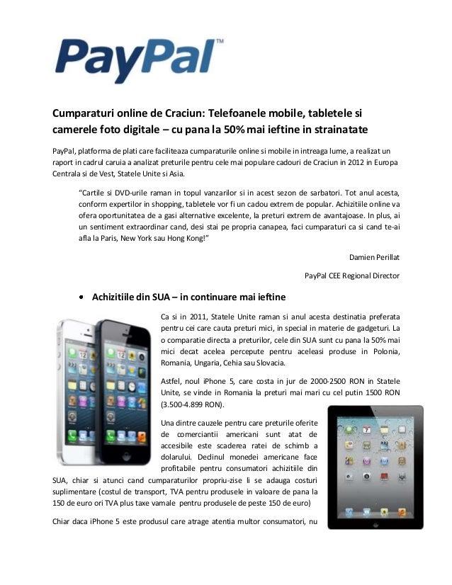 Cumparaturi online de Craciun: Telefoanele mobile, tabletele sicamerele foto digitale – cu pana la 50% mai ieftine in stra...