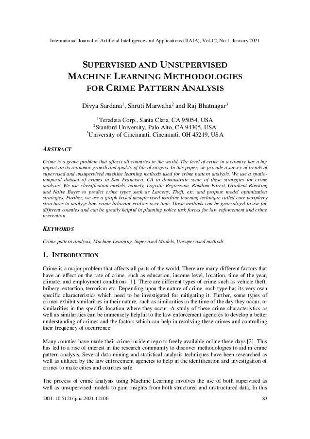 International Journal of Artificial Intelligence and Applications (IJAIA), Vol.12, No.1, January 2021 DOI: 10.5121/ijaia.2...
