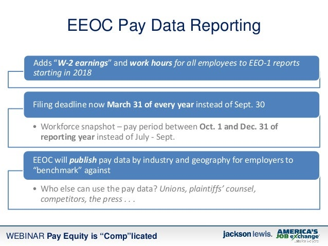 Pay Equity Is Quot Comp Quot Licated New Rules New Reporting And