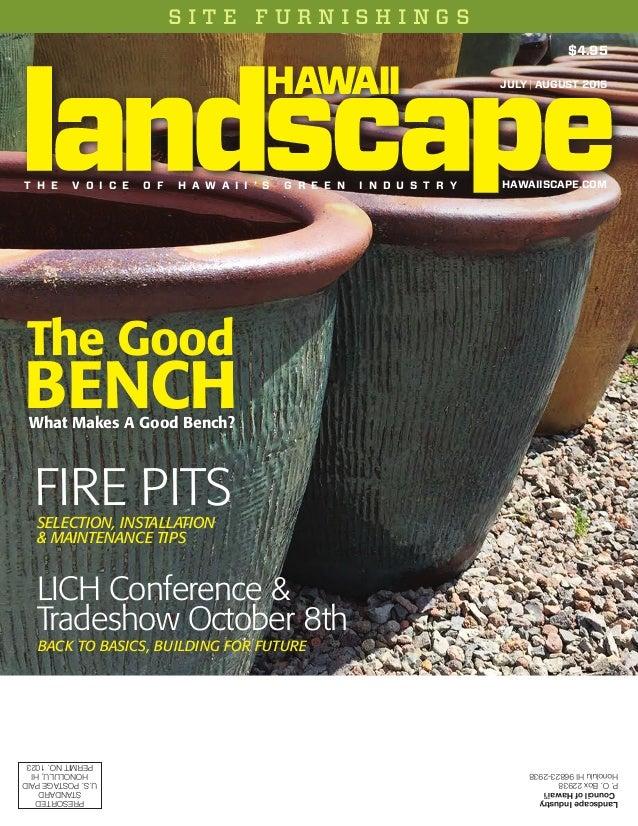 LandscapeIndustry CouncilofHawai'i P.O.Box22938 HonoluluHI96823-2938 S I T E F U R N I S H I N G S LandscapeIndustry Counc...