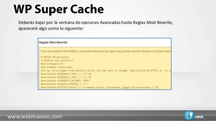 WP Super Cache, acelera tu WordPress slideshare - 웹