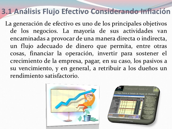 3.1 Análisis Flujo Efectivo Considerando Inflación La generación de efectivo es uno de los principales objetivos   de los ...