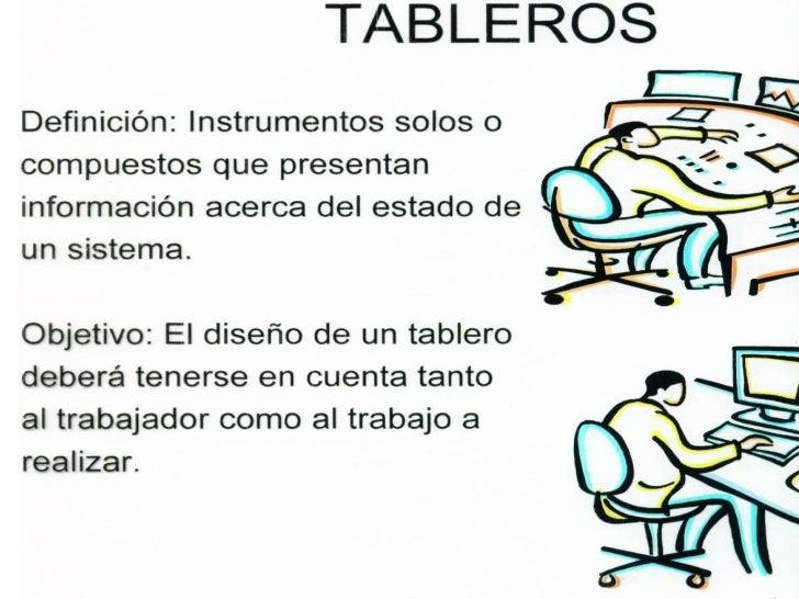 TABLEROS VISUALES• Los tableros visuales los  podemos clasificar en: escalas  cuantitativas, indicadores de  estatus, luce...