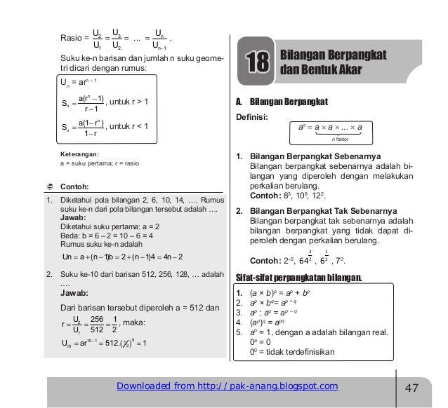 Materi Matematika Smp Kelas Viii Semester Genap Download Lengkap