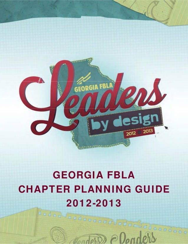 GEORGIA FBLACHAPTER PLANNING GUIDE       2012-2013