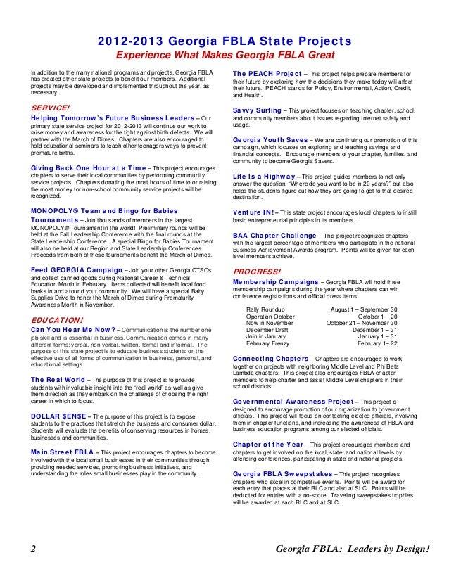 fbla entrepreneurship case study sample