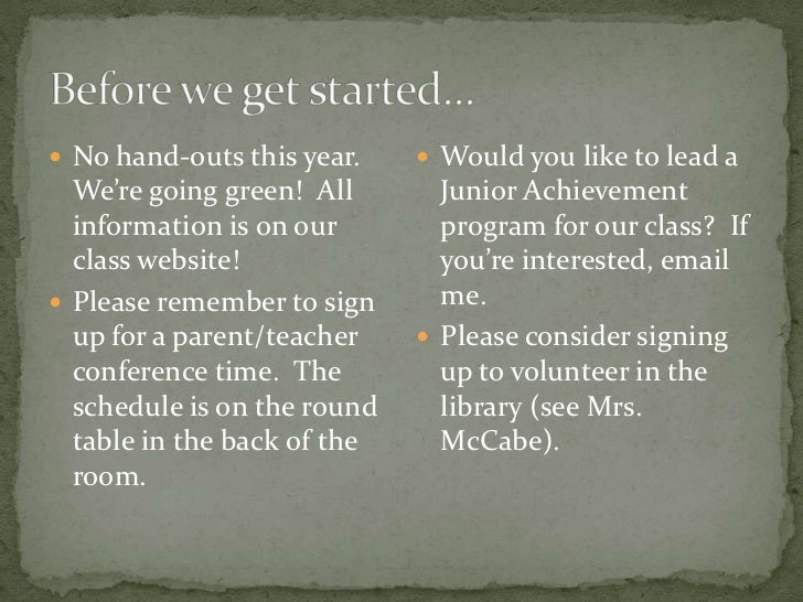  No hand-outs this year.     Would you like to lead a  We're going green! All       Junior Achievement  information is o...