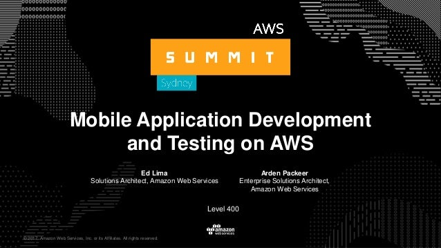 910c1ae1b5380 Mobile Application Development and Testing on AWS Amazon Web ...