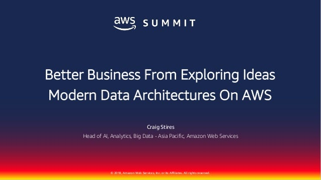 Better Business From Exploring Ideas   AWS Summit Sydney 2018