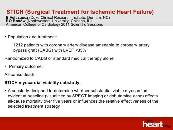 <ul><li>Population and treatment: </li></ul><ul><ul><li>1212 patients with coronary artery disease amenable to coronary ar...