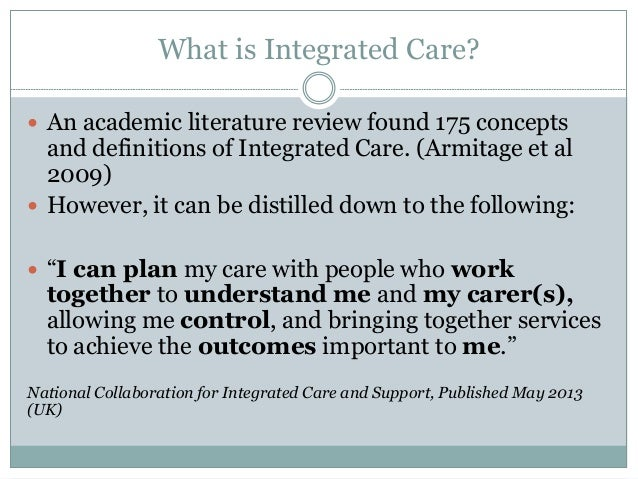 integrated health care literature review