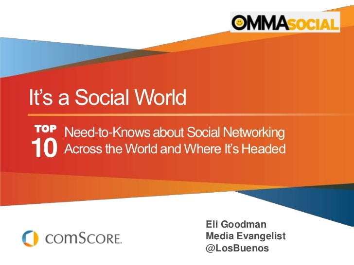 """It""""s a Social WorldTOP   Need-to-Knows about Social Networking10    Across the World and Where It""""s Headed                ..."""