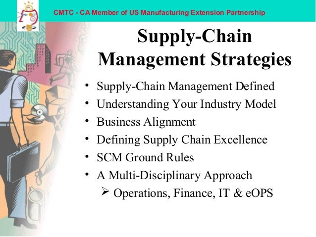 supply chain managment Supply chain management is an important subject for global businesses and small businesses alike learn how to create an efficient supply chain in any economic climate and deal with issues with your supply chain operation.