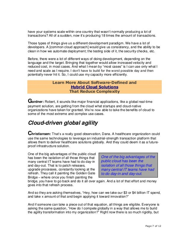 Page 7 of 12 have your systems scale within one country that wasn't normally producing a lot of transactions? All of a sud...