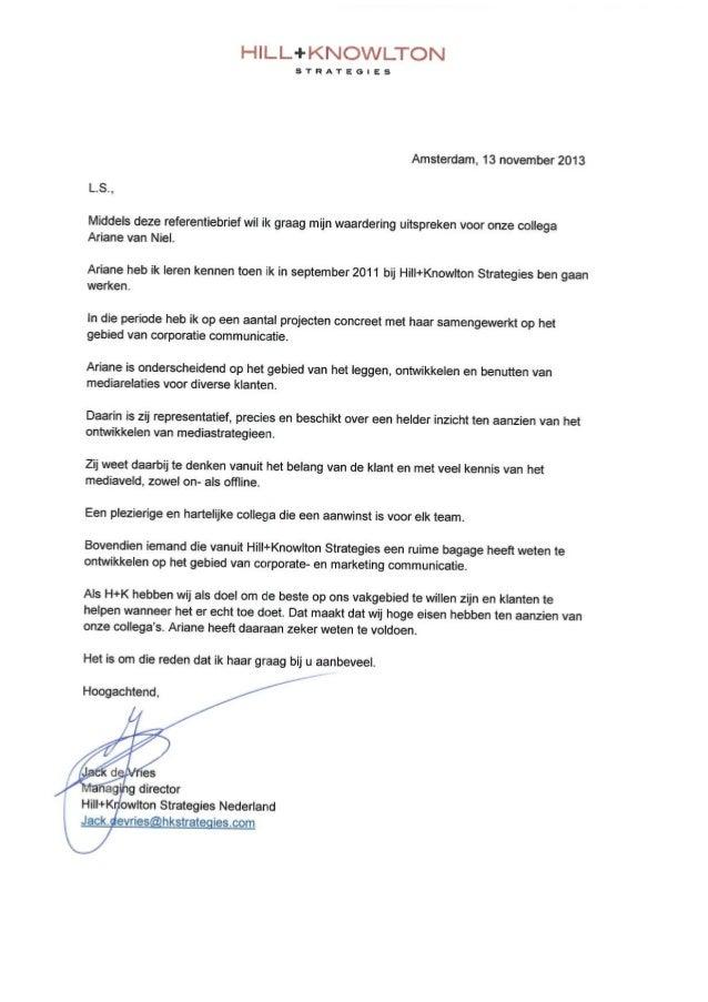 Referentiebrief Jack de Vries