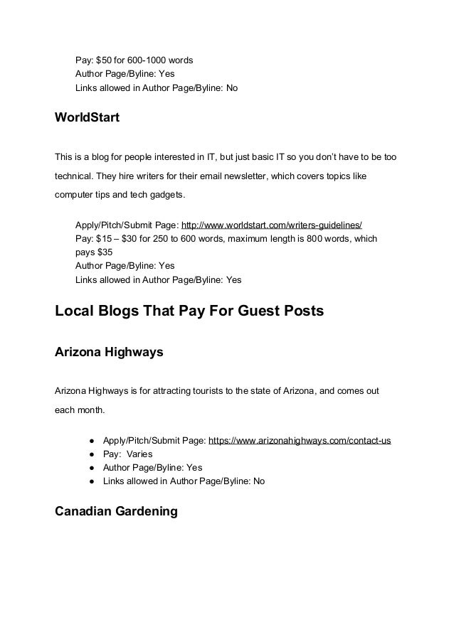 121 blogs that pay for guest posts