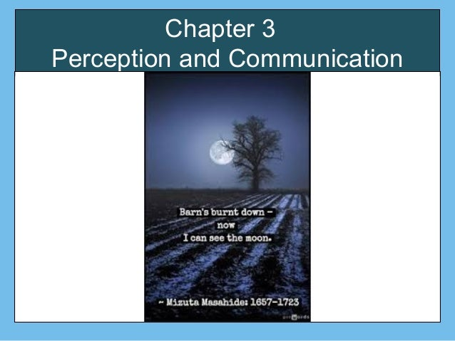 Chapter 3 Perception and Communication