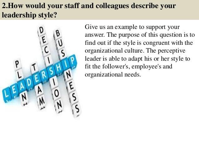 describe your leadership skills