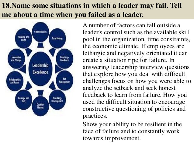 44 leadership interview questions and answers pdf